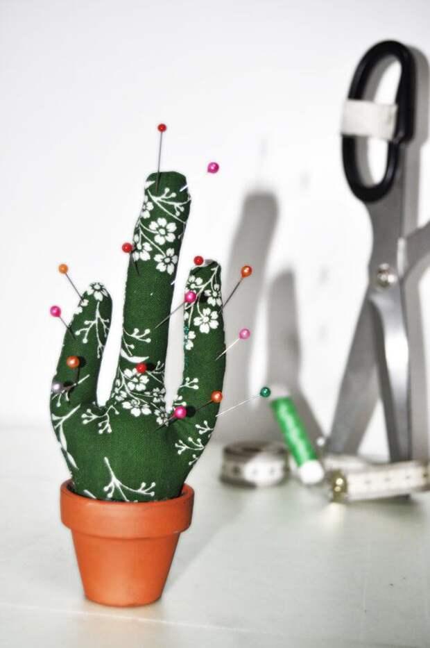 кактус игольница как сделать