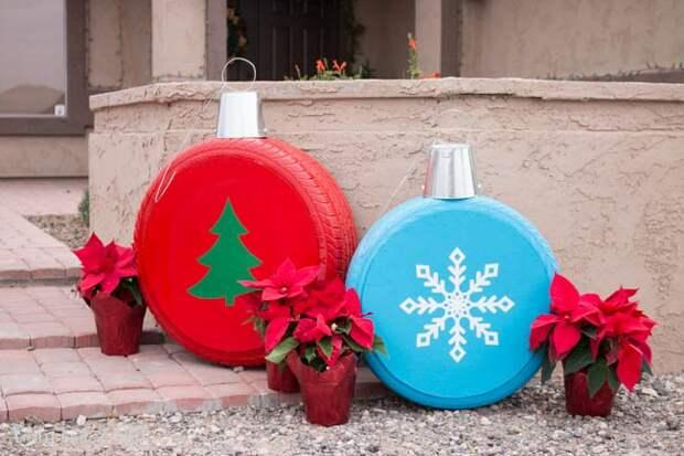 Новогодний декор...у гаража