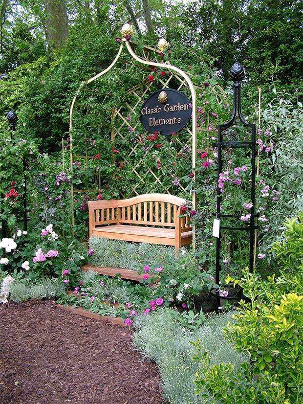 Садовые скамейки - подборка идей