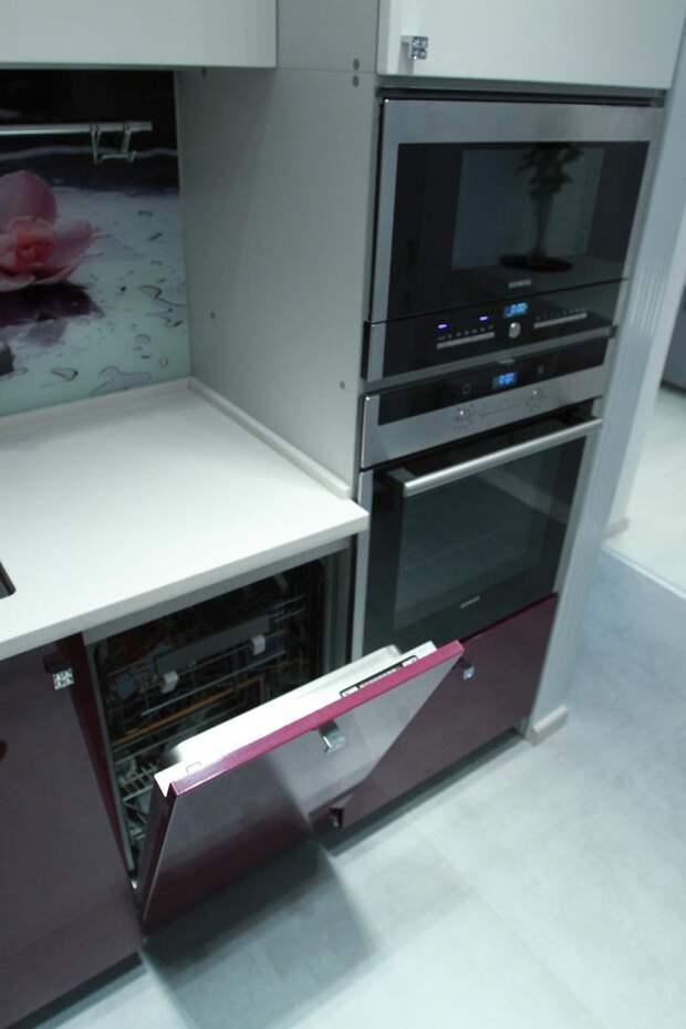 Расположение бытовой техники на кухне