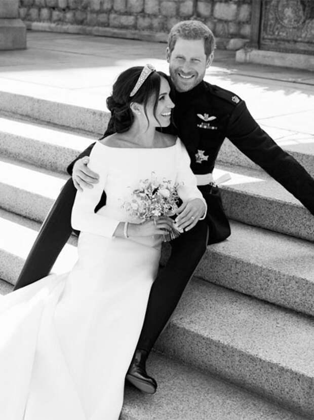 меган и гарри свадебный портрет