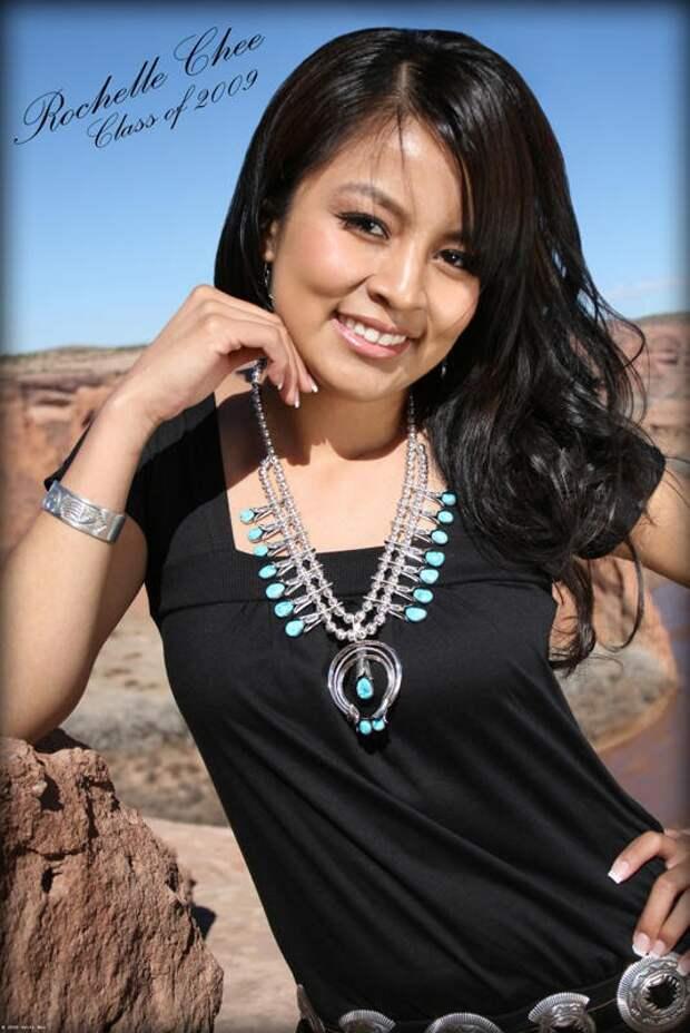 Современная девушка из народа навахо