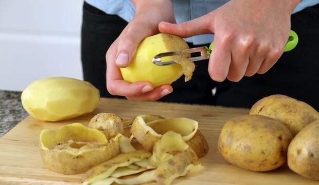 9. Картофельные очистки идея, продукты, хитрости