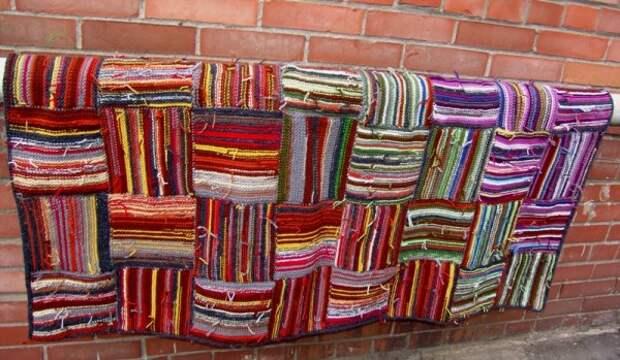 Покрывало в стиле бохо из остатков пряжи (Diy)