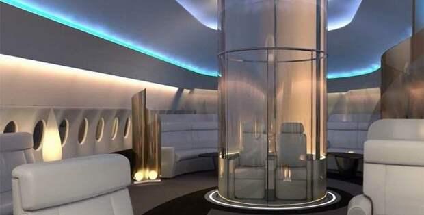 На пассажирских самолетах появятся прозрачные купола для обзора