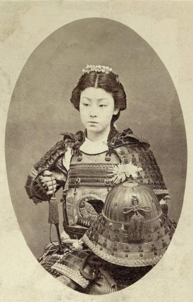 Женщина-самурай, 19 век  интересно, история, фото