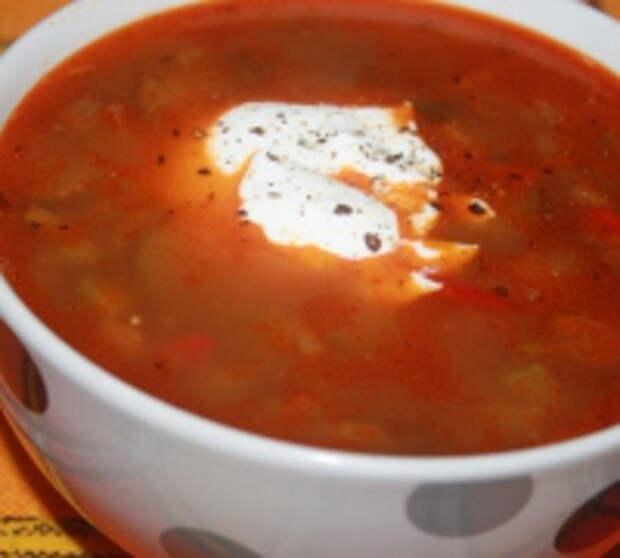 Острый мясной суп (второго дня)