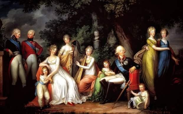 Семья императора Павла  I (картина Кюгельген Герхарда Франца)