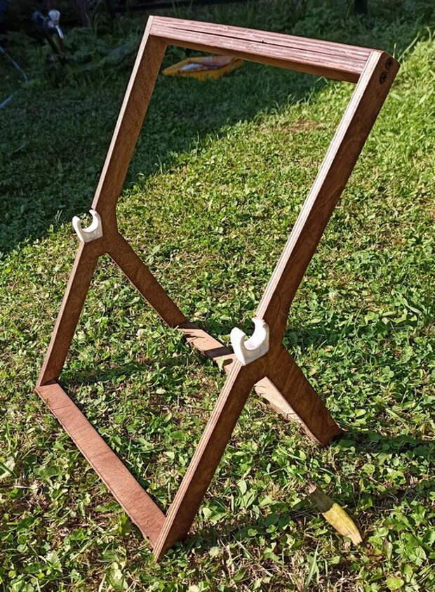 Деревянная катушка для поливного шланга своими руками
