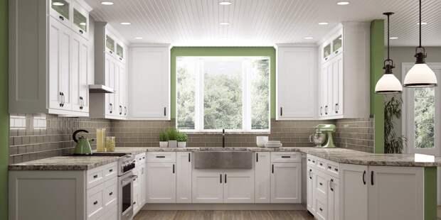 гранитная столешница для кухни белого цвета