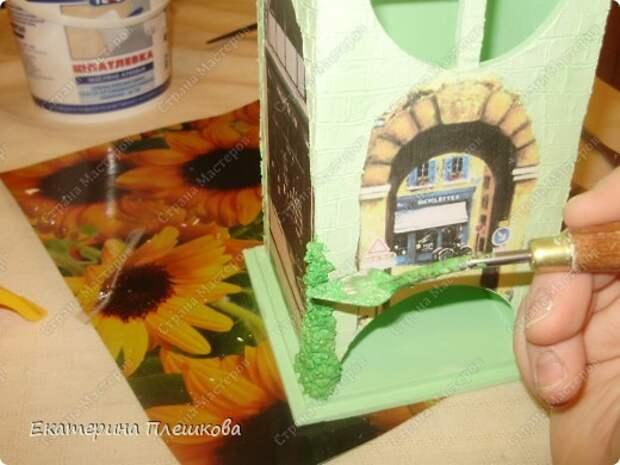 Декор предметов Мастер-класс 8 марта День рождения Декупаж МК Чайного домика Бумага Дерево Крупа фото 25