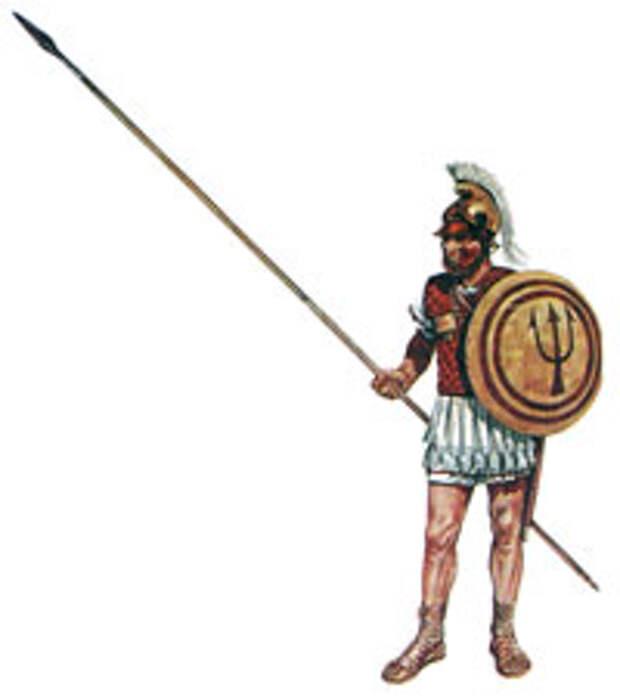 Афинский гоплит псоле рефром Ификрата