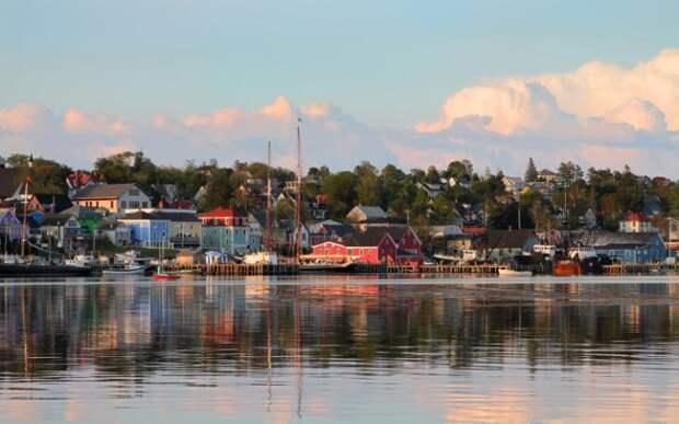 Город Луненберг в провинции Новая Шотландия в Канаде