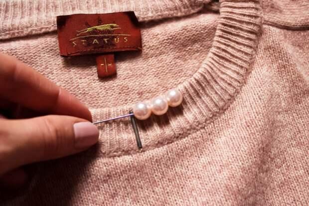 Колье на свитере (Diy)
