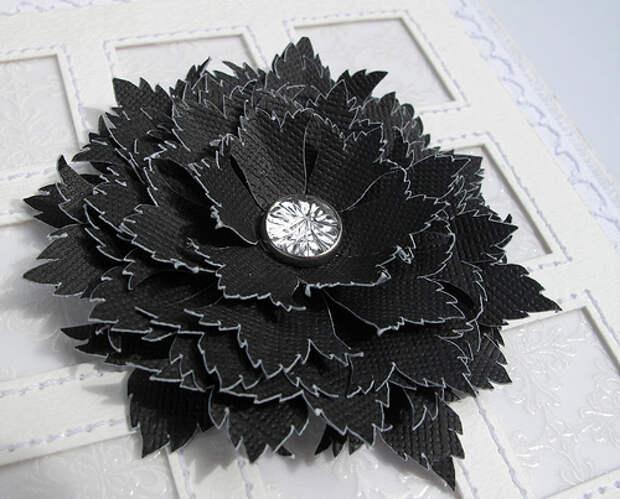 black ornate flower