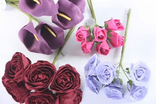 очистка искусственных цветов