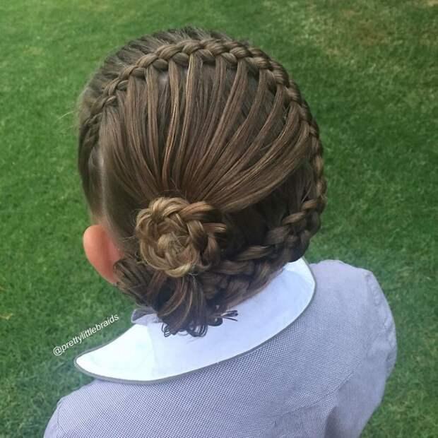 Косоплетение становится настоящим искусством  дочь, коса, мама, прическа