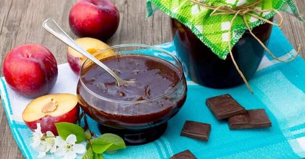 варенье «слива в шоколаде»