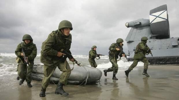 Морская пехота Каспийской флотилии во время учений уничтожила лагерь с помощью БПЛА