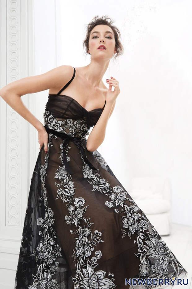 Невообразимо женственные вечерние платья Marchesa Pre-Fall 2020