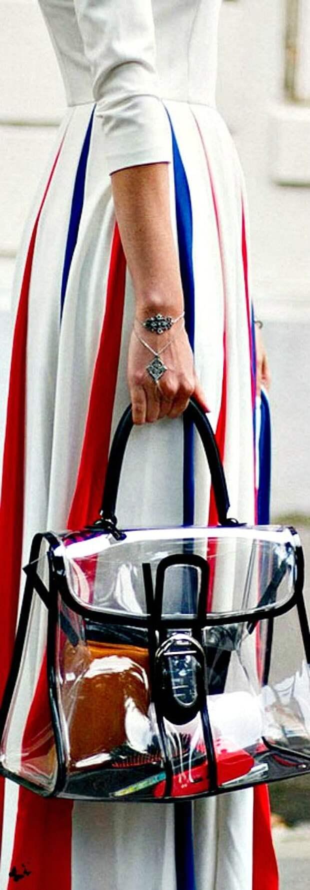 Показать все: модные сумки из прозрачных материалов