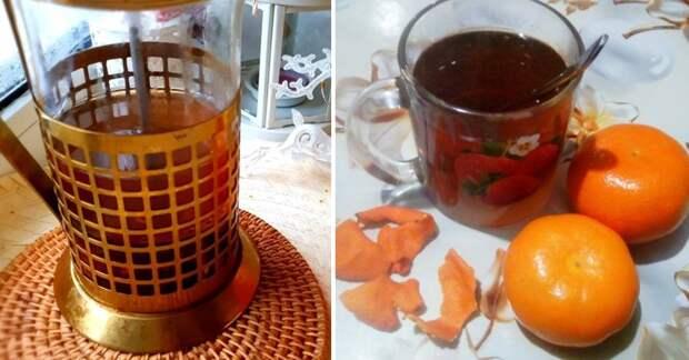 Мандариновый чай для фигуры