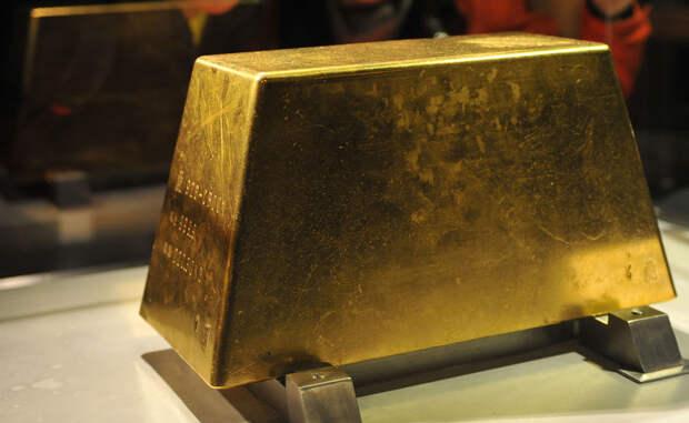 Самый большой золотой слиток в мире весит 250 кг.