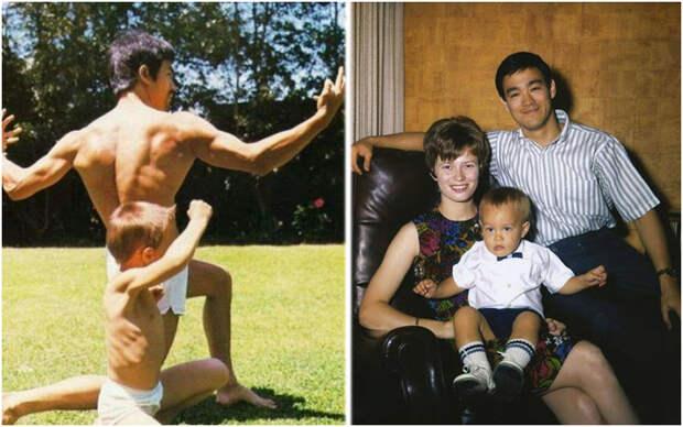 Легендарный Брюс Ли: семейные фотографии актера