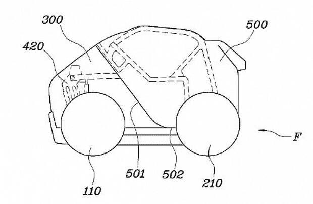 Hyundai запатентовала складной автомобиль