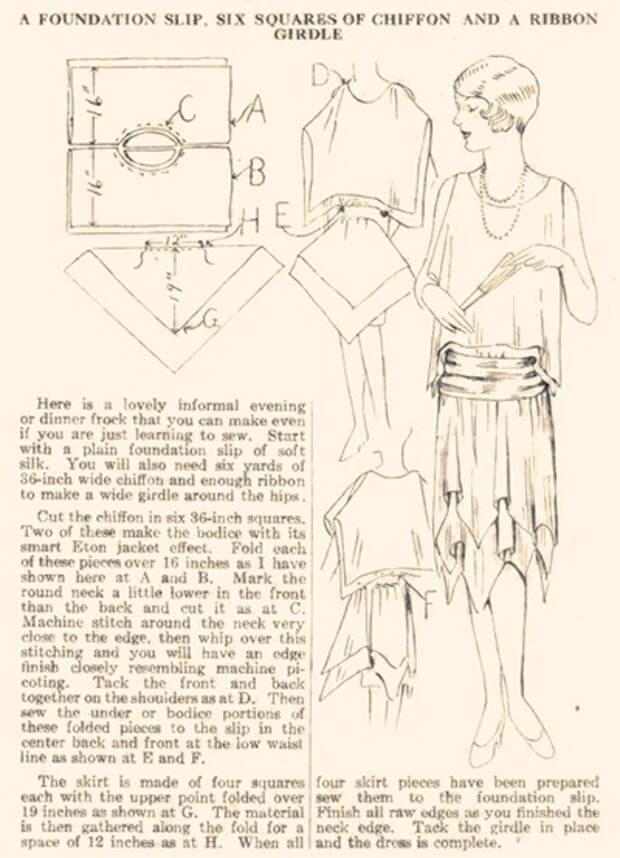 выкройки платьев 1920 х годов великий гэтсби