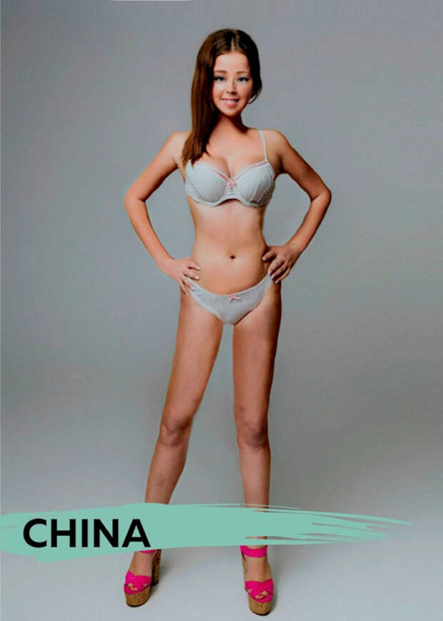 """#ПопаБезФотошопа: 18 вариантов """"идеальной"""" фигуры из разных стран"""