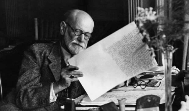1930, Sigmund Freud In Home Office At Desk