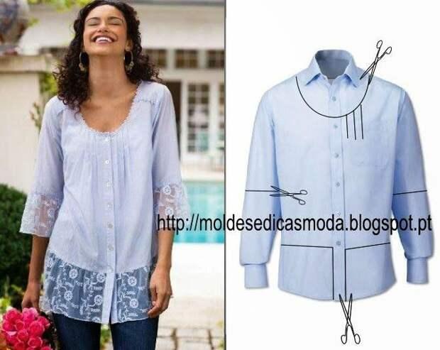 Moldes Moda POR Medida: RECICLAGEM DE Camisa - 5