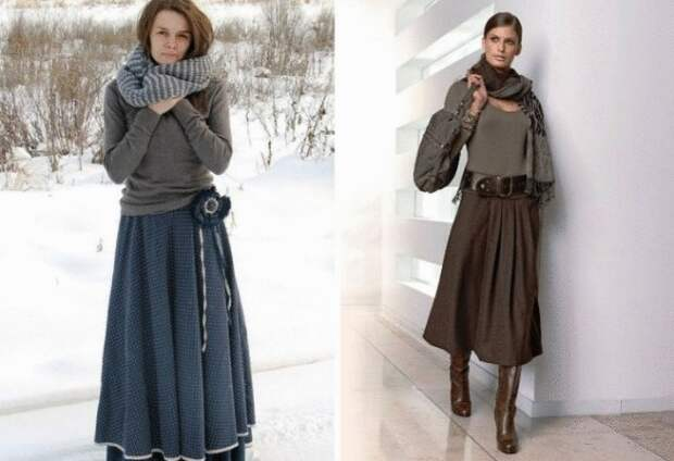 Тепло, красиво и женственно - 20+ самых стильных моделей юбок на зиму