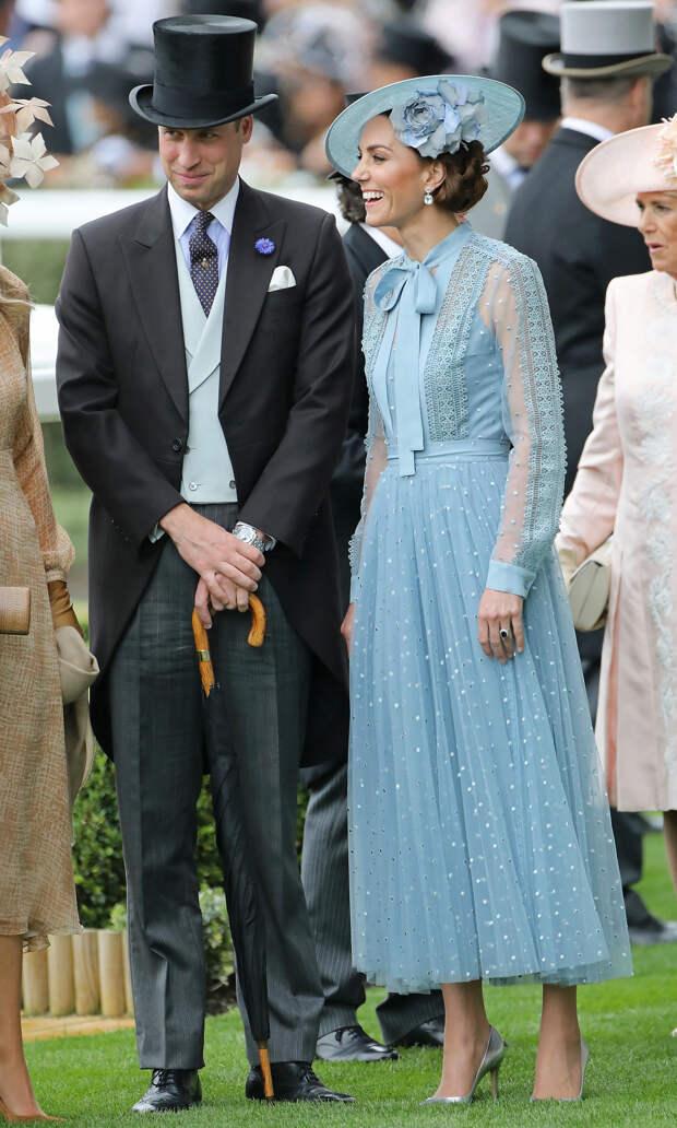 Принц Уильям и Кейт Миддлтон на Royal Ascot, 2019