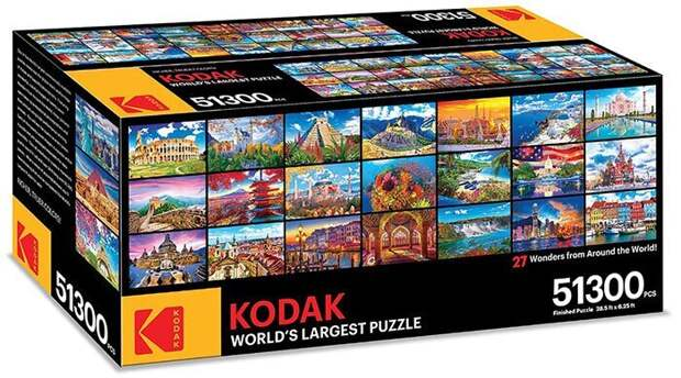 Более 50 тысяч кусочков: Kodak выпустили самый большой в мире пазл