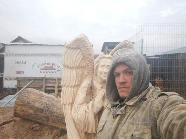 Свежесрубленный табурет - мечта дачника Александр Ивченко, бензопила, своими руками, сделай сам, табуретка
