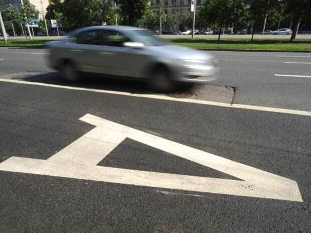 В Москве ради «выделенок» сузят ширину полос