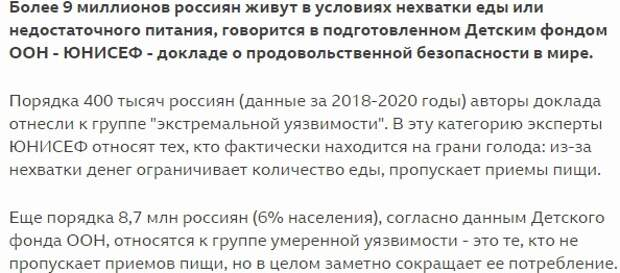 Россия - страна победившая голод