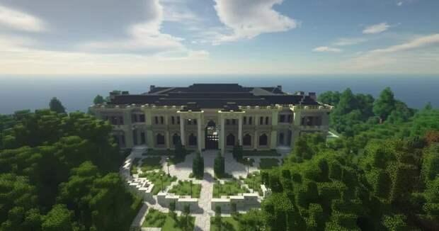 У Путина появился еще один дворец с аквадискотекой и складом грязи. В Minecraft