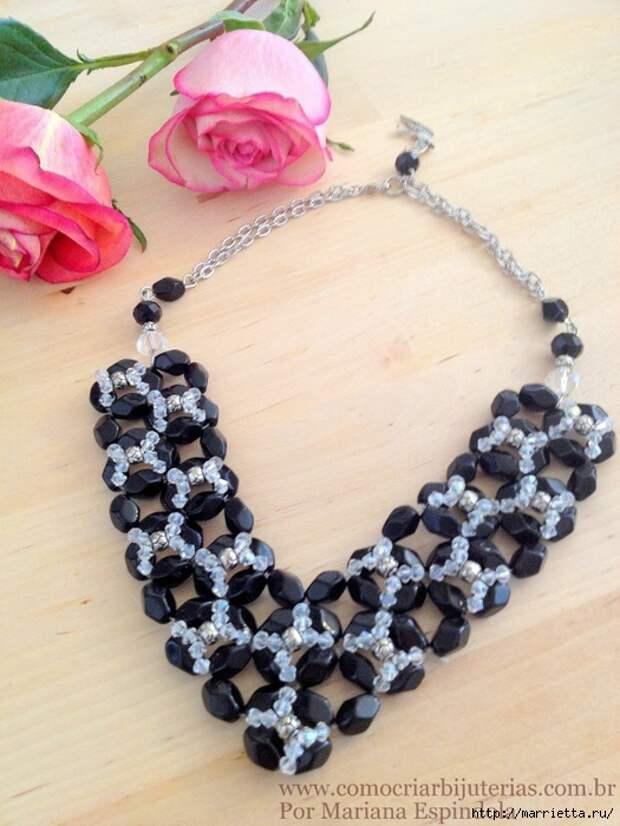 стильное ожерелье из бисера и кристаллов. мастер-класс (21) (525x700, 293Kb)