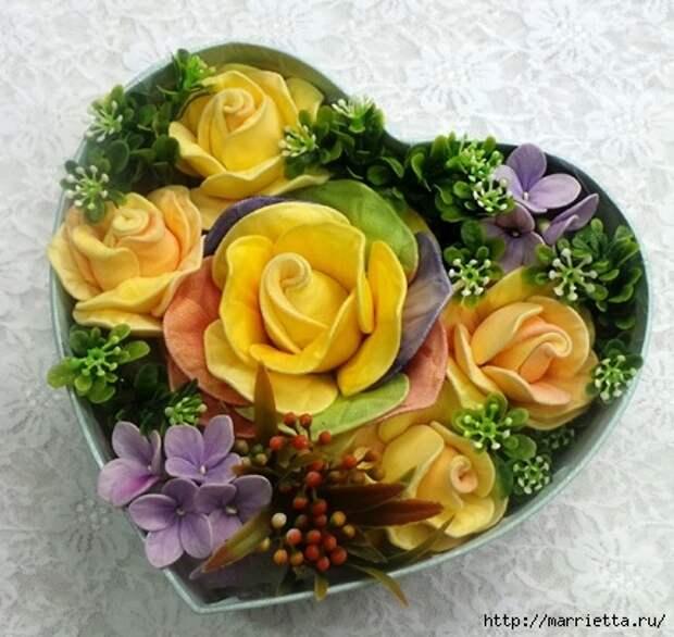 Розы из капрона. Красивые идеи и мастер-класс (3) (445x421, 148Kb)