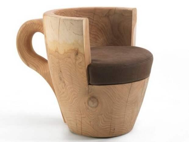 Деревянное кресло, кресло в форме чашки