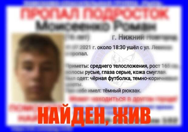 Завершены поиски второго из пропавших в Нижнем Новгороде подростков