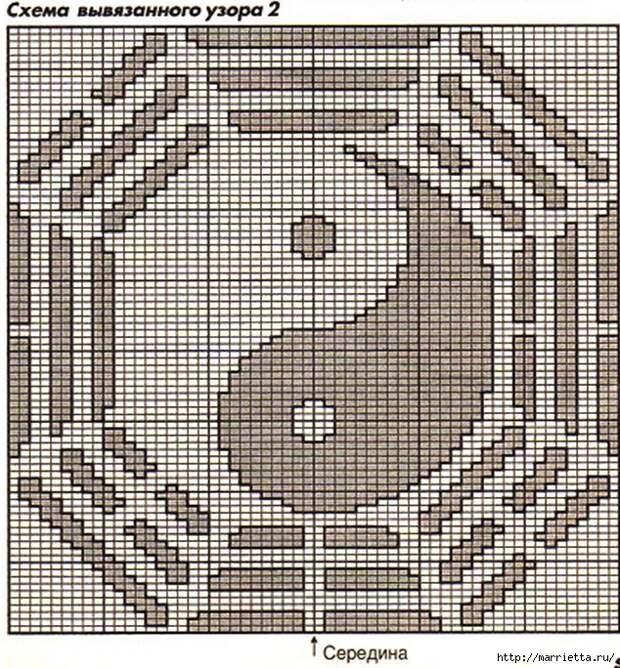 Два вязаных спицами мужских пуловера (9) (634x684, 479Kb)