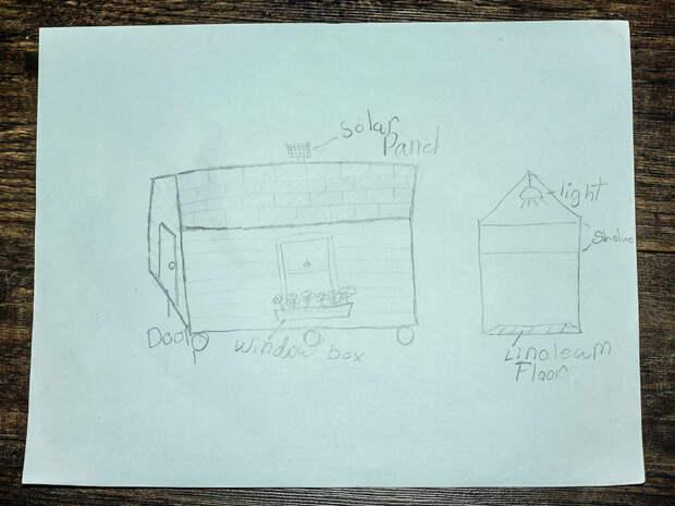 9-летняя девочка строит маленькие домики для бездомных бездомный, девочка, домик, помощь