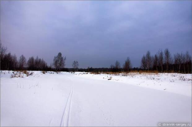 Зимний вечер синий