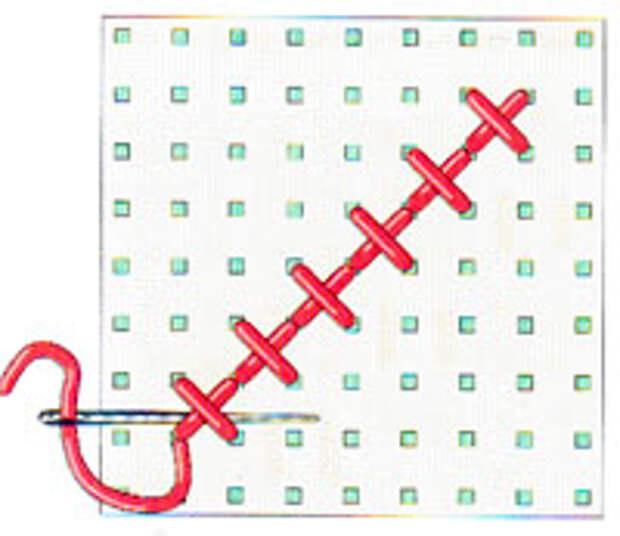 Вышивка крестиком по диагонали. Простая диагональ (фото 12)