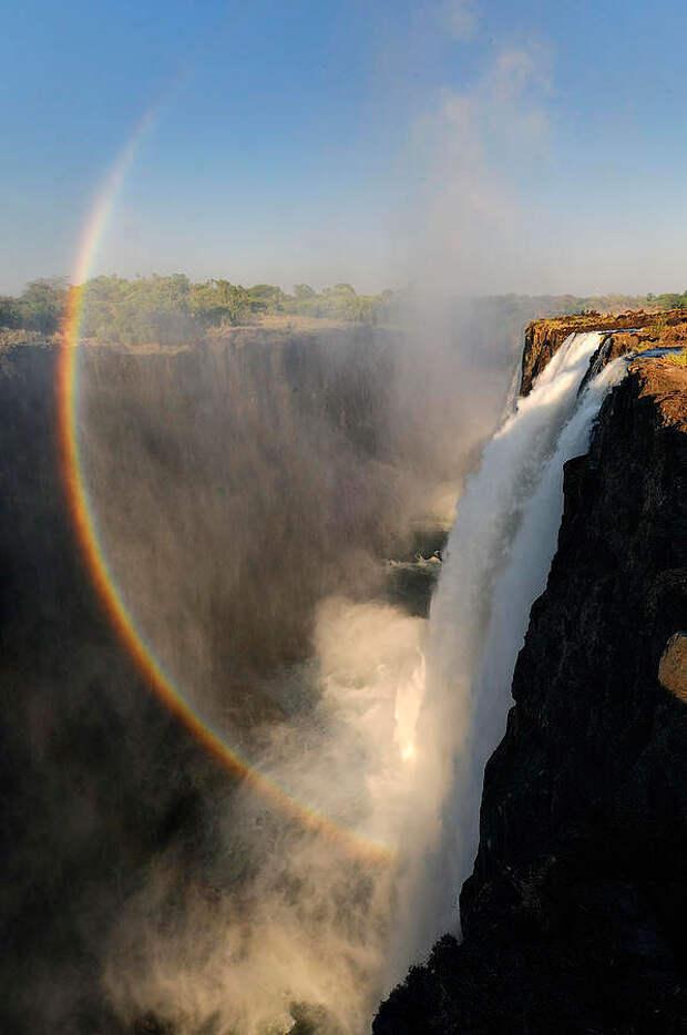 rainbow03 Радуга над самым большим водопадом в мире