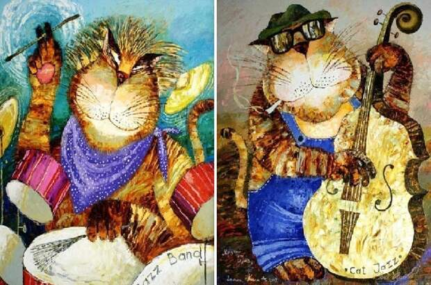Коты-музыканты. Автор: Галина Ким.